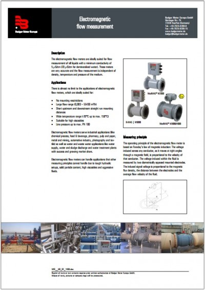 Electromagnetic flow measurement